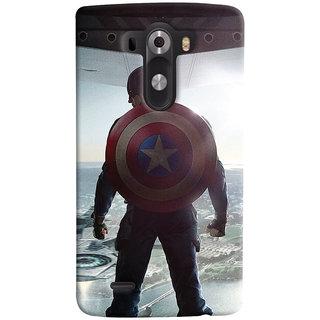 ColourCrust LG G3/ Optimus G3 Mobile Phone Back Cover With Captain America - Durable Matte Finish Hard Plastic Slim Case
