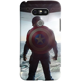 ColourCrust LG G5 / Optimus G5 Mobile Phone Back Cover With Captain America - Durable Matte Finish Hard Plastic Slim Case