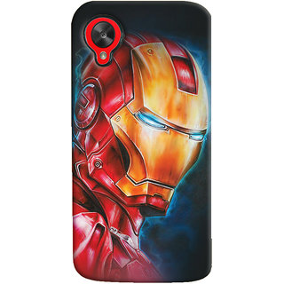 ColourCrust LG Google Nexus 5 Mobile Phone Back Cover With Iron Man - Durable Matte Finish Hard Plastic Slim Case