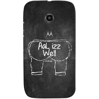 ColourCrust Motorola Moto E2 Mobile Phone Back Cover With Aal Izz Well Quirky - Durable Matte Finish Hard Plastic Slim Case