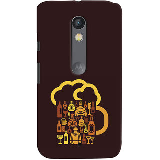 ColourCrust Motorola Moto X Play Mobile Phone Back Cover With Abstract Art - Durable Matte Finish Hard Plastic Slim Case