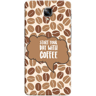 ColourCrust OnePlus 3 Mobile Phone Back Cover With Coffee Beans Pattern Style - Durable Matte Finish Hard Plastic Slim Case