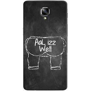 ColourCrust OnePlus 3 Mobile Phone Back Cover With Aal Izz Well Quirky - Durable Matte Finish Hard Plastic Slim Case