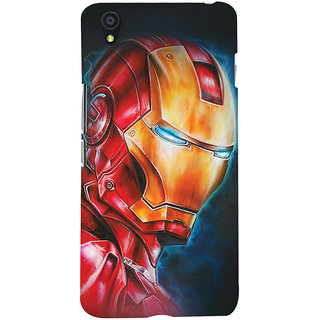 ColourCrust OnePlus X Mobile Phone Back Cover With Iron Man - Durable Matte Finish Hard Plastic Slim Case