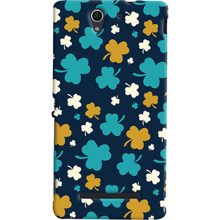 ColourCrust Sony Xperia C3 / Dual Sim Mobile Phone Back Cover With Floral Pattern - Durable Matte Finish Hard Plastic Slim Case