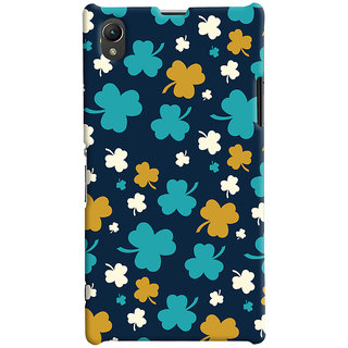 ColourCrust Sony Xperia Z1 Mobile Phone Back Cover With Floral Pattern - Durable Matte Finish Hard Plastic Slim Case