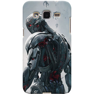 ColourCrust Samsung Galaxy J2 Mobile Phone Back Cover With Ultron Back - Durable Matte Finish Hard Plastic Slim Case