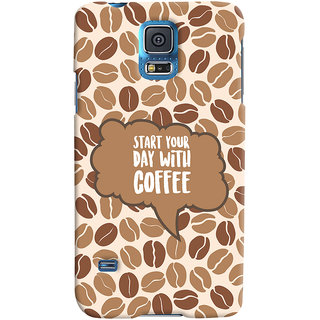 ColourCrust Samsung Galaxy S5 Mobile Phone Back Cover With Coffee Beans Pattern Style - Durable Matte Finish Hard Plastic Slim Case