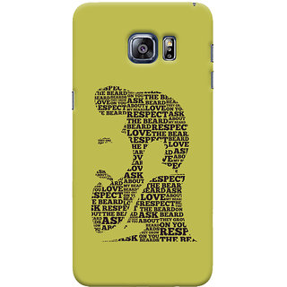 ColourCrust Samsung Galaxy S6 Edge Plus Mobile Phone Back Cover With Beard Love Quirky - Durable Matte Finish Hard Plastic Slim Case