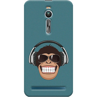 ColourCrust Asus Zenfone 2 ZE550ML Mobile Phone Back Cover With Music Lover Quirky Style - Durable Matte Finish Hard Plastic Slim Case