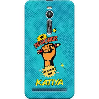 ColourCrust Asus Zenfone 2 ZE550ML Mobile Phone Back Cover With Designer Ka Haath Katiya Quirky - Durable Matte Finish Hard Plastic Slim Case