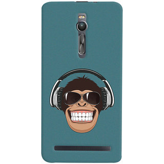 ColourCrust Asus Zenfone 2 ZE551ML Mobile Phone Back Cover With Music Lover Quirky Style - Durable Matte Finish Hard Plastic Slim Case