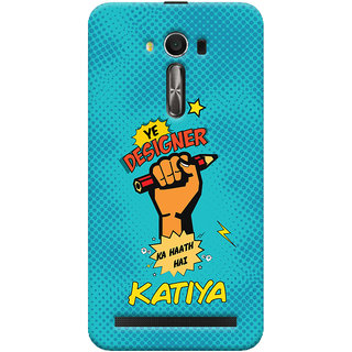ColourCrust Asus Zenfone 2 Laser ZE550KL / Zenfone 5.5 Mobile Phone Back Cover With Designer Ka Haath Katiya Quirky - Durable Matte Finish Hard Plastic Slim Case