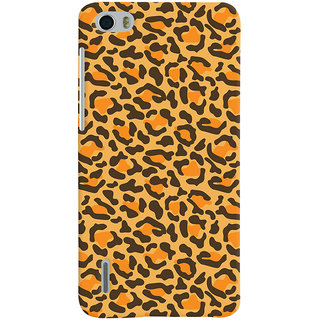 ColourCrust Huawei Honor 6 / Dual Sim Mobile Phone Back Cover With Animal Print - Durable Matte Finish Hard Plastic Slim Case