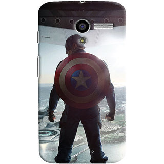 ColourCrust Motorola Moto X Mobile Phone Back Cover With Captain America - Durable Matte Finish Hard Plastic Slim Case