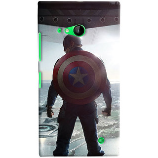 ColourCrust Microsoft Lumia 730 / Dual Sim Mobile Phone Back Cover With Captain America - Durable Matte Finish Hard Plastic Slim Case