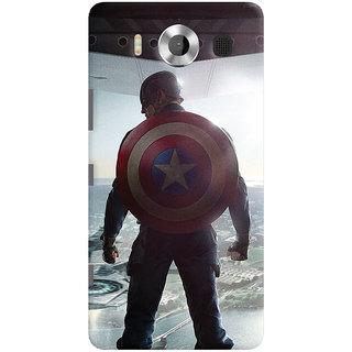 ColourCrust Microsoft Lumia 950 Mobile Phone Back Cover With Captain America - Durable Matte Finish Hard Plastic Slim Case
