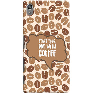 ColourCrust Sony Xperia Z5 Plus/ Z5 Premium Mobile Phone Back Cover With Coffee Beans Pattern Style - Durable Matte Finish Hard Plastic Slim Case