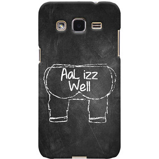ColourCrust Samsung Galaxy J2 Mobile Phone Back Cover With Aal Izz Well Quirky - Durable Matte Finish Hard Plastic Slim Case