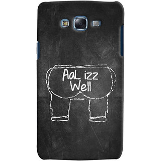 ColourCrust Samsung Galaxy J7 Mobile Phone Back Cover With Aal Izz Well Quirky - Durable Matte Finish Hard Plastic Slim Case