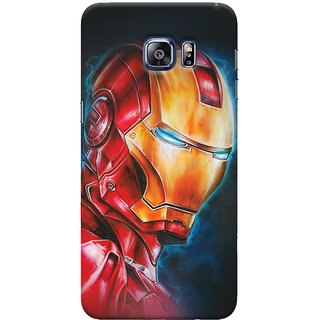 ColourCrust Samsung Galaxy S6 Edge Plus Mobile Phone Back Cover With Iron Man - Durable Matte Finish Hard Plastic Slim Case