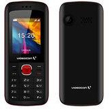 Videocon V1GD  Wireless FM  1600 mAh Battery - Black Red