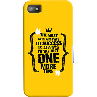 ColourCrust Blackberry Z1O Mobile Phone Back Cover With Success Motivational Quote - Durable Matte Finish Hard Plastic Slim Case