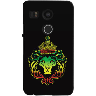 ColourCrust LG Google Nexus 5X New (2016 Edition) Mobile Phone Back Cover With Lion King - Durable Matte Finish Hard Plastic Slim Case