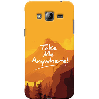 ColourCrust Samsung Galaxy J3 (2016) Mobile Phone Back Cover With Take Me Anywhere Travellers Choice - Durable Matte Finish Hard Plastic Slim Case