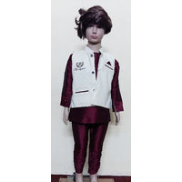 Modi Dress For Kids Meroon And Ivory (New Diwali Kids Collection)