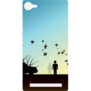 Amagav Printed Back Case Cover for Lava A76