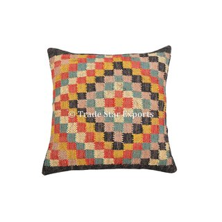 18x18 Indian Handwoven Kilim Cushion Cover Decorative Jute Pillow Cases