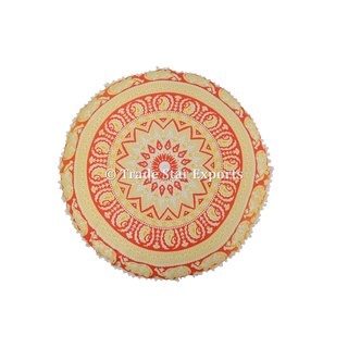 Indian Ombre Mandala Tapestry Floor Cushion with Insert Round Meditation Pillow Cover