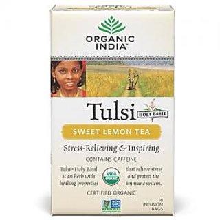 Organic India Tulsi Sweet Lemon 18 Tea Bags