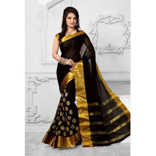 5th Anniversary Sale!! Min. 50% Off On Fashion Sale By Shopclues   Bhuwal Zari Embroidery Cotton silk Saree ( colors Available) @ Rs.299