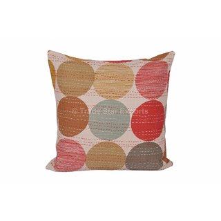 Indian Polka Dot Print Kantha Pillow Cover Ethnic Vintage Throw Cushions 16
