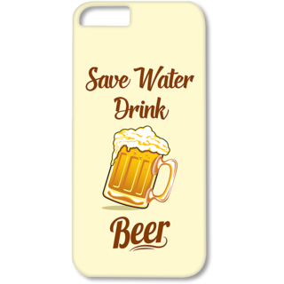 Iphone4-4s Designer Hard-Plastic Phone Cover from Print Opera - Save Water Drink Beer