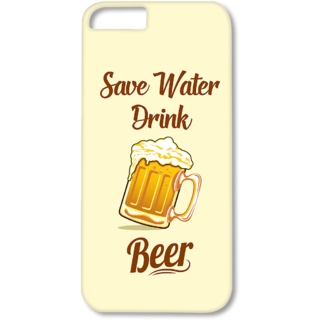 Iphone6-6s Designer Hard-Plastic Phone Cover from Print Opera - Save Water Drink Beer