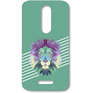 MOTO X FORCE Designer Hard-Plastic Phone Cover from Print Opera - The Lion
