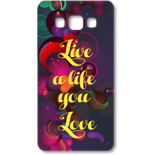 SAMSUNG GALAXY A7 Designer Hard-Plastic Phone Cover from Print Opera - Live a Life you Love