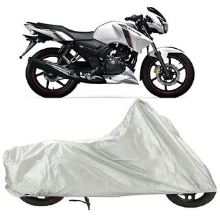 TVS Apache RTR 160 Bike Cover Silver (Rohaas)