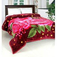 Home Castle Premium Assorted Multicolor Printed Double Bed Fleece Mink Blanket