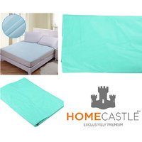 Home Castle Non Woven Fabric Waterproof Double Bed Mattress Protector Sheet with Elastic Strap (Assorted Color)90X90