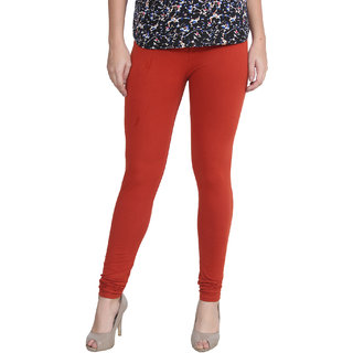 Attree Women Super Cotton Lycra Red Colored Plan Legging (Pack of 1)
