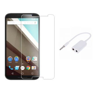 Lenovo K5 Note Tempered Glass Screen Protector With Free Aux Splitter