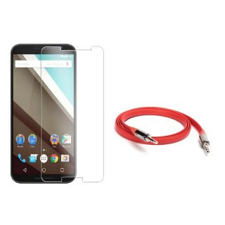Sony Xperia Z1 Tempered Glass Screen Protector With Free Aux Cable