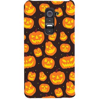ColourCrust Halloween Pattern Style Printed Designer Back Cover For LG G2 / Optimus G2 Mobile Phone - Matte Finish Hard Plastic Slim Case