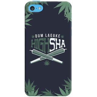 ColourCrust Dum Laga Ke Highsha Quirky Printed Designer Back Cover For Apple iPhone 5C Mobile Phone - Matte Finish Hard Plastic Slim Case