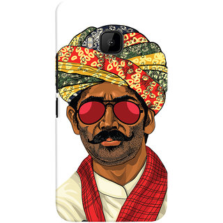 ColourCrust Desi Swag Quirky Printed Designer Back Cover For HTC One M9 Mobile Phone - Matte Finish Hard Plastic Slim Case