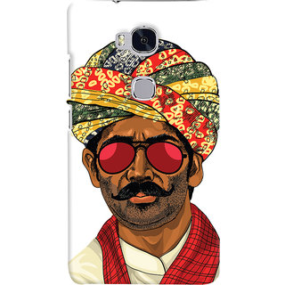 ColourCrust Desi Swag Quirky Printed Designer Back Cover For Huawei Honor 5X / Dual Sim Mobile Phone - Matte Finish Hard Plastic Slim Case